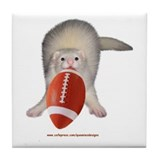 Football Ferret Tile Coaster