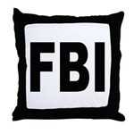 FBI Federal Bureau of Investigation Throw Pillow