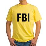 FBI Federal Bureau of Investigation Yellow T-Shirt