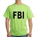 FBI Federal Bureau of Investigation Green T-Shirt