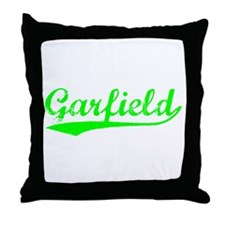 Vintage Garfield (Green) Throw Pillow