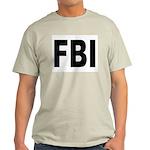 FBI (Front) Ash Grey T-Shirt