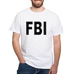 FBI (Front) White T-Shirt