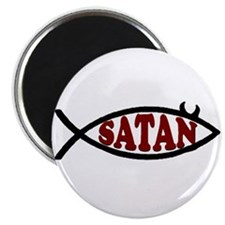 Satan fish! (anti-jesus fish) Magnet
