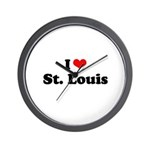 I love St. Louis Wall Clock