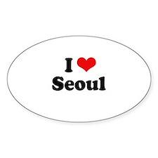 I love Seoul Oval Decal