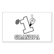 #1 - GRANDPA Rectangle Decal
