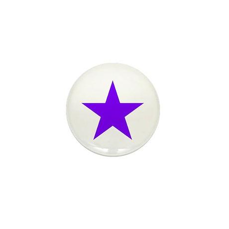 Purple Star Mini Button