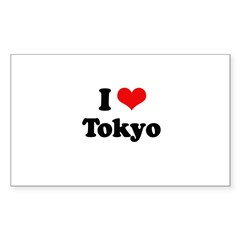 I love Tokyo Rectangle Sticker