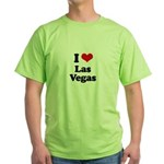 I love Las Vegas Green T-Shirt