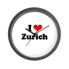 I love Zurich Wall Clock