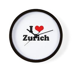 I love Zurich Wall Clock