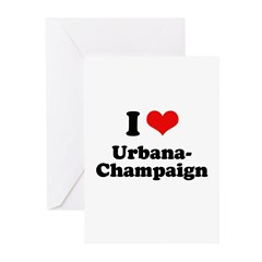 I love Urbana-Champaign Greeting Cards (Pk of 20)