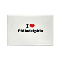 I love Philadelphia Rectangle Magnet (100 pack)