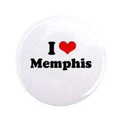 "I love Memphis 3.5"" Button (100 pack)"