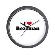 I love Bozeman Wall Clock