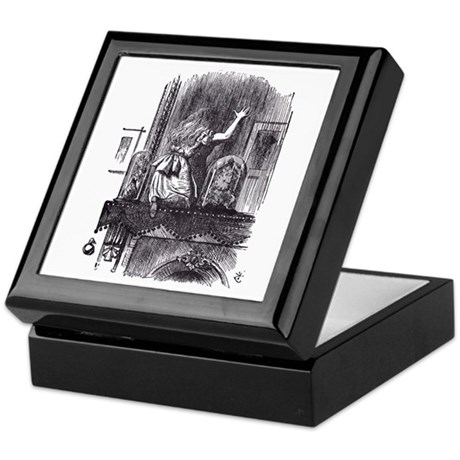 Looking Glass Front Keepsake Box