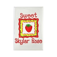 Sweet Skylar Rose Rectangle Magnet