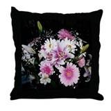 Flower Arrangement Throw Pillow