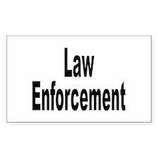 Law Enforcement Rectangle Decal