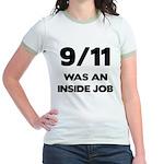 911 Was An Inside Job Jr. Ringer T-Shirt
