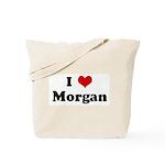 I Love Morgan Tote Bag