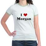 I Love Morgan Jr. Ringer T-Shirt