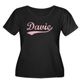 Vintage Davie (Pink) Women's Plus Size Scoop Neck