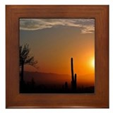 Sunrise Desert Framed Tile