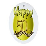 50th Birthday Keepsake (Oval)