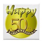 50th Birthday Tile Coaster