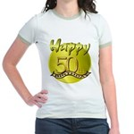 50th Birthday Jr. Ringer T-Shirt