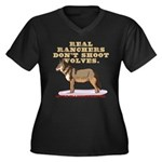 Real Ranchers Women's Plus Size V-Neck Dark T-Shir
