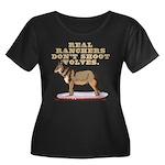 Real Ranchers Women's Plus Size Scoop Neck Dark T-