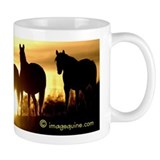 Sunset Horse Small Mugs