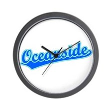 Retro Oceanside (Blue) Wall Clock