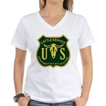 US Cattle Service Women's V-Neck T-Shirt