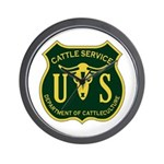 US Cattle Service Wall Clock