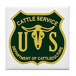 US Cattle Service Tile Coaster