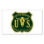 US Cattle Service Rectangle Sticker