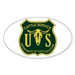 US Cattle Service Oval Sticker