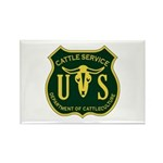 US Cattle Service Rectangle Magnet (10 pack)