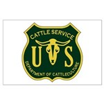 US Cattle Service Large Poster
