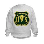 US Cattle Service Kids Sweatshirt