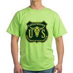 US Cattle Service Green T-Shirt