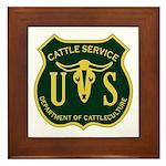 US Cattle Service Framed Tile
