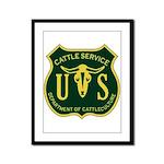 US Cattle Service Framed Panel Print