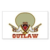 Outlaw Rectangle Decal