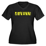 Giovanni Faded (Gold) Women's Plus Size V-Neck Dar