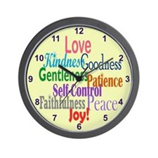 Fruit of the Spirit Wall Clock